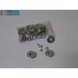 Guzik metal średni 2 srebrny kod 8034