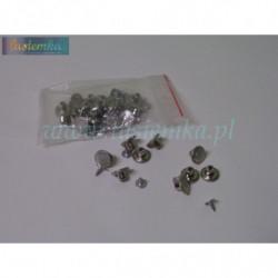 Guzik metal mały 1,2 srebrny kod 8048