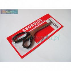 nożyczki średnie 190mm- czarna rączka kod 1043