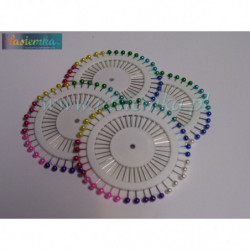szpilki okrągłe kolor krótkie kod 2244