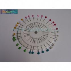 szpilki okrągłe kolor długie kod 2244