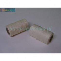 sznurek naturalny dratwa cienka kol biały kod 0056