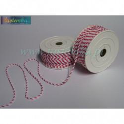 sznurek PP-2,2 kol 002/313- biało/czerwona kod 2048
