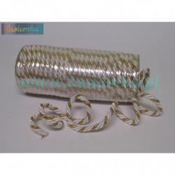 sznurek FI-7/2PF złoto-biały 8106