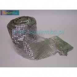 taśma ozdobna TD225 srebrne ćwieki kod 1000