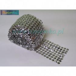 taśma dekoracyjna TD239 srebrne rozetki kod 0322