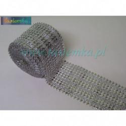taśma dekoracyjna TD139 srebrne serce z kropką kod 0323