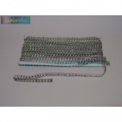 taśma dekoracyjna TD248 srebrna cyrkonia kod 0322