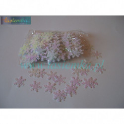 cekin dekoracyjny śnieżynka biała kod 1329