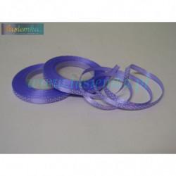 wstążka kropki 0,6cm - fiolet
