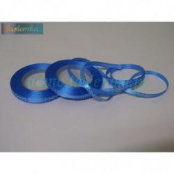 wstążka kropki 0,6cm - niebieski