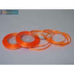 wstążka kropki 0,6cm - pomarańcz