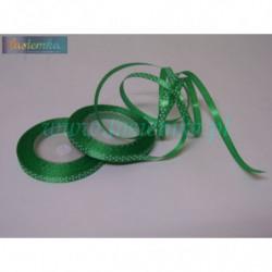 wstążka kropki 0,6cm - zielony ciemny