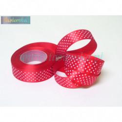 wstążka kropki 2,5cm - czerwony