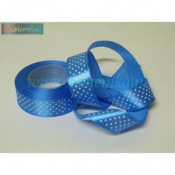 wstążka kropki 2,5cm - niebieski