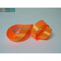 wstążka kropki 2,5cm - pomarańcz
