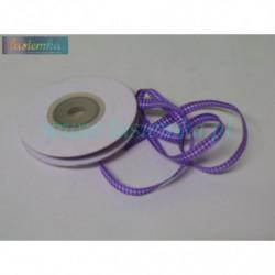 wstążka kratka 0,6cm - fiolet ciemny (drobna 56)