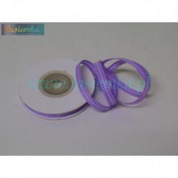 wstążka kratka 0,6cm - fiolet jasny (drobna 57)