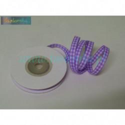 wstążka kratka 0,6cm - fiolet jasny