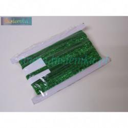 aksamitka brokatowa - zielona