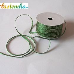 Wstążka brokat 0,35cm kol zielony kod 7054