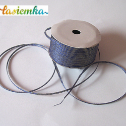 Wstążka brokat 0,35cm kol niebieski kod 7054