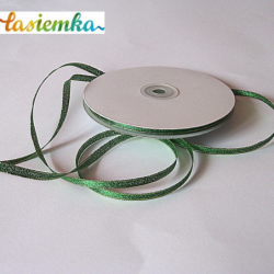 Wstążka brokat 0,6 cm kol zielony kod 7138