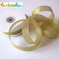 Wstążka brokat 2,5 cm kol złoty kod 7068
