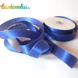 Wstążka brokat 2,5 cm kol niebieski kod 7059