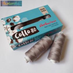 nici bawełniane cotto 80 kol 1815 szary