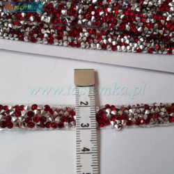 Wstążka brokat 2,5 cm kol srebrny kod 7068
