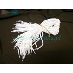 sznurowadła okrągłe grube białe 60 kod 1060