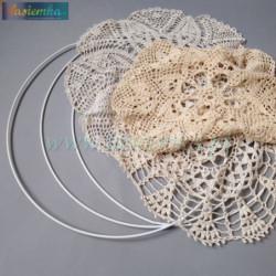 Koronka Ażurowa - WSTAWKA korinex biała wz 34/2/110 szer 12 cm