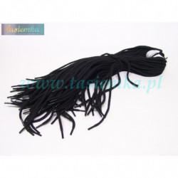 sznurowadła okrągłe grube czarne 70 kod 4070