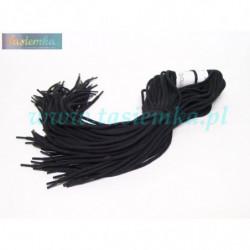 sznurowadła okrągłe grube czarne 80 kod 7080