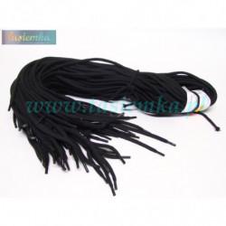 sznurowadła okrągłe grube czarne 100 kod 1100