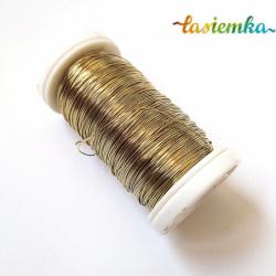 drucik florystyczny metalowy złoty