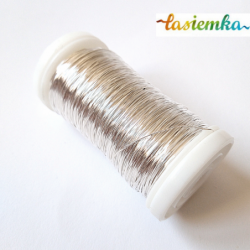 drucik florystyczny metalowy srebrny