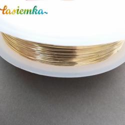 drucik metalowy złoty