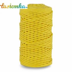 sznurek bawełniany 3mm kol 060 JASNY ŻÓŁTY