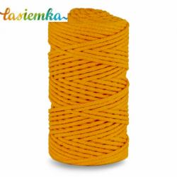 sznurek bawełniany 3mm kol 070 CIEMNY ŻÓŁTY