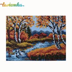 kanwa 18x24 rzeka jesień wz 5007