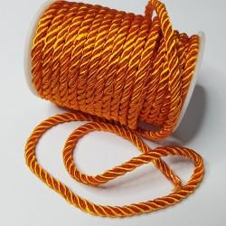Sznurek Skręcany 5 mm pomarańcz 668 15y